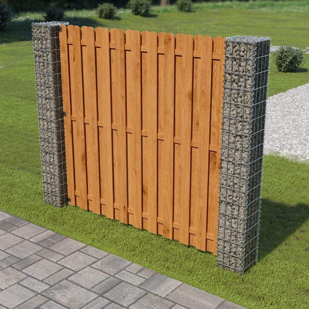 Nishore Wpc Zaunelement Sichtschutz Zaun Mit 1 Pfosten 180 X 180