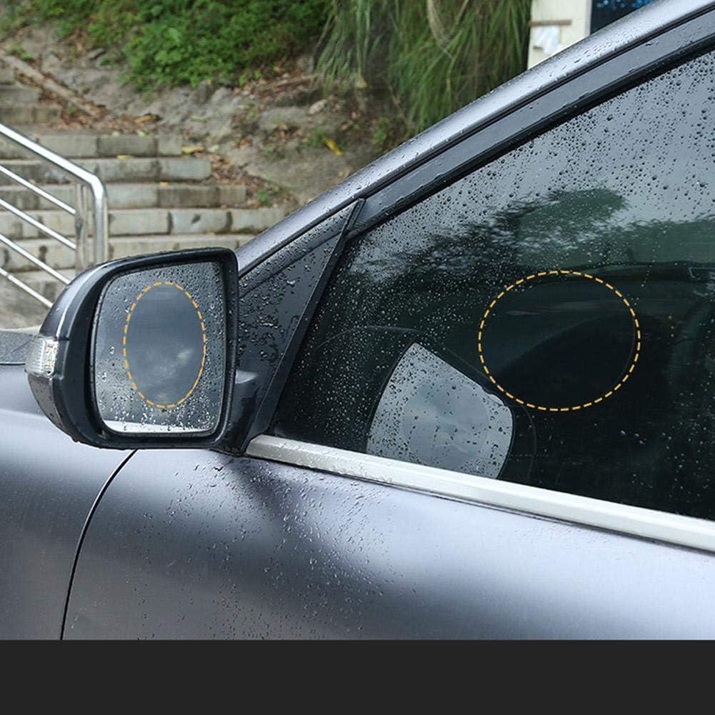 Geeignet Alle Automodelle Miss-an 2 pcs Auto R/ückspiegel Film Wasserfeste und Anti-Beschlag-Folie Auto-R/ückspiegelfolie Regendicht Anti-Fog Anti-Schwindel