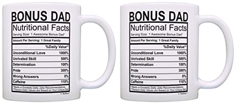 Birthday Gifts For Stepdad Bonus Dad Nutritional Facts Label Gift Ideas 2 Pack