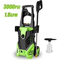 Homdox 3000PSI Electric Pressure Power Washer 1.8GPM High Pressure Power Washer 1800W Machine Cleaner, 5 Nozzles (Green)