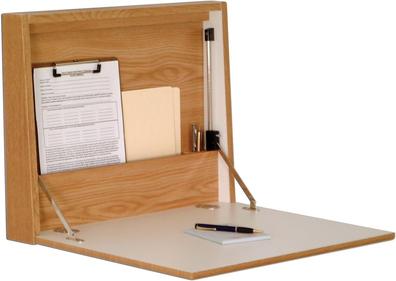 Wooden Mallet Wall Desk/Laptop Workstation, Oak