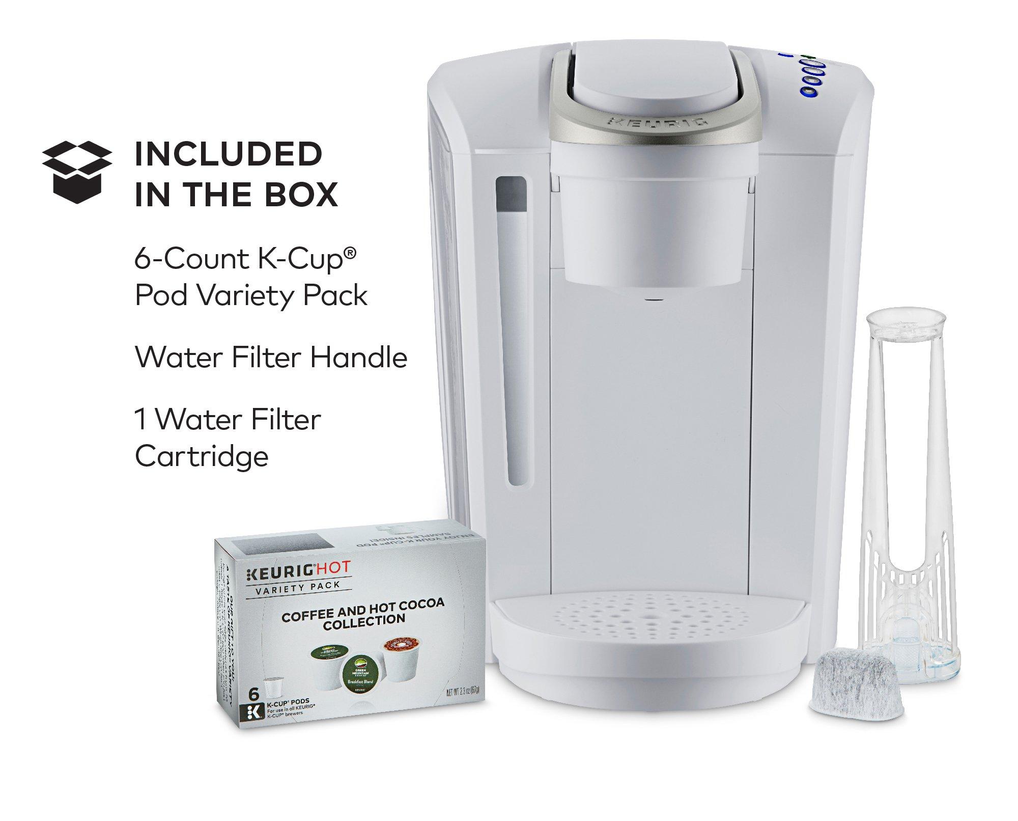 Keurig K-Select Single-Serve K-Cup Pod Coffee Maker, Matte White