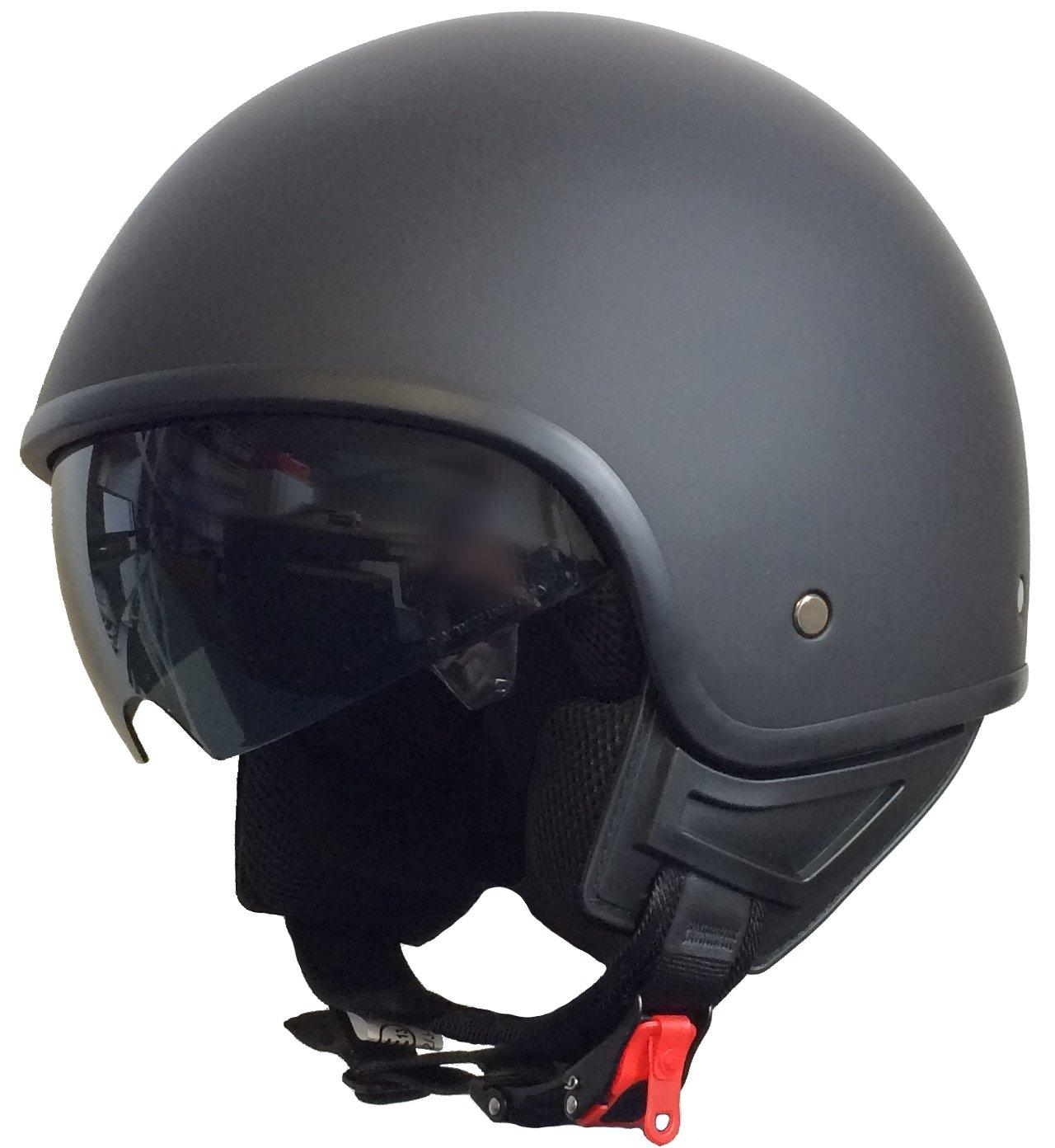 Rallox Helmets Casco da Moto Scooter Jet nero opaco Rallox 074 (XS S M L XL) Taglia: M 4260399262380