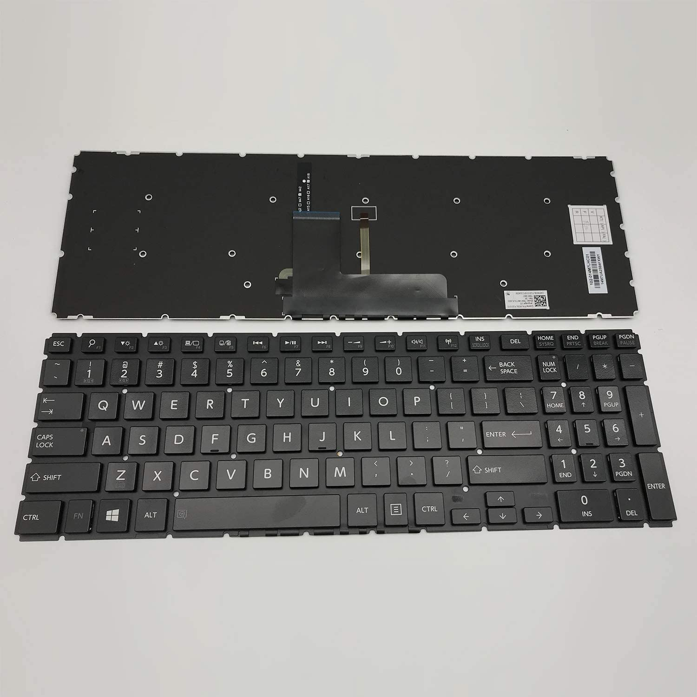 New Laptop Replacement Keyboard for Toshiba Satellite L50-C L50D-B L50D-C L50DT-B L50T-B L50T-C L50W-C L55D-B L55D-B L55D-B L55D-B L55D-B L55D-B US 9Z.NBCBQ.00I EBLIU01110 Black Backlight L50-B