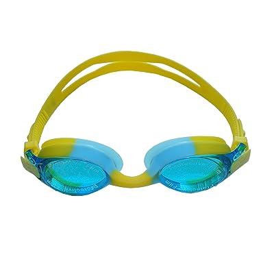 Colorfulworldstore Lunettes de natation enfant-Lunettes de natation colorées enfant-Lunettes de natation en silicone étanches, antibuée et anti-UV