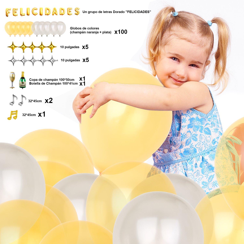 8790dca6530d6  127 Piezas   Globos Cumpleaños   Paquete de Globos   Globos de Helio  Decoración de. Ampliar imagen