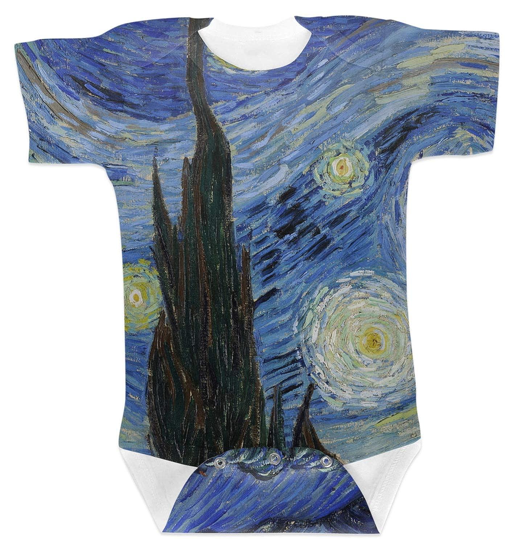 Amazon.com: La Noche Estrellada (Van Gogh 1889) bebé Onesie ...