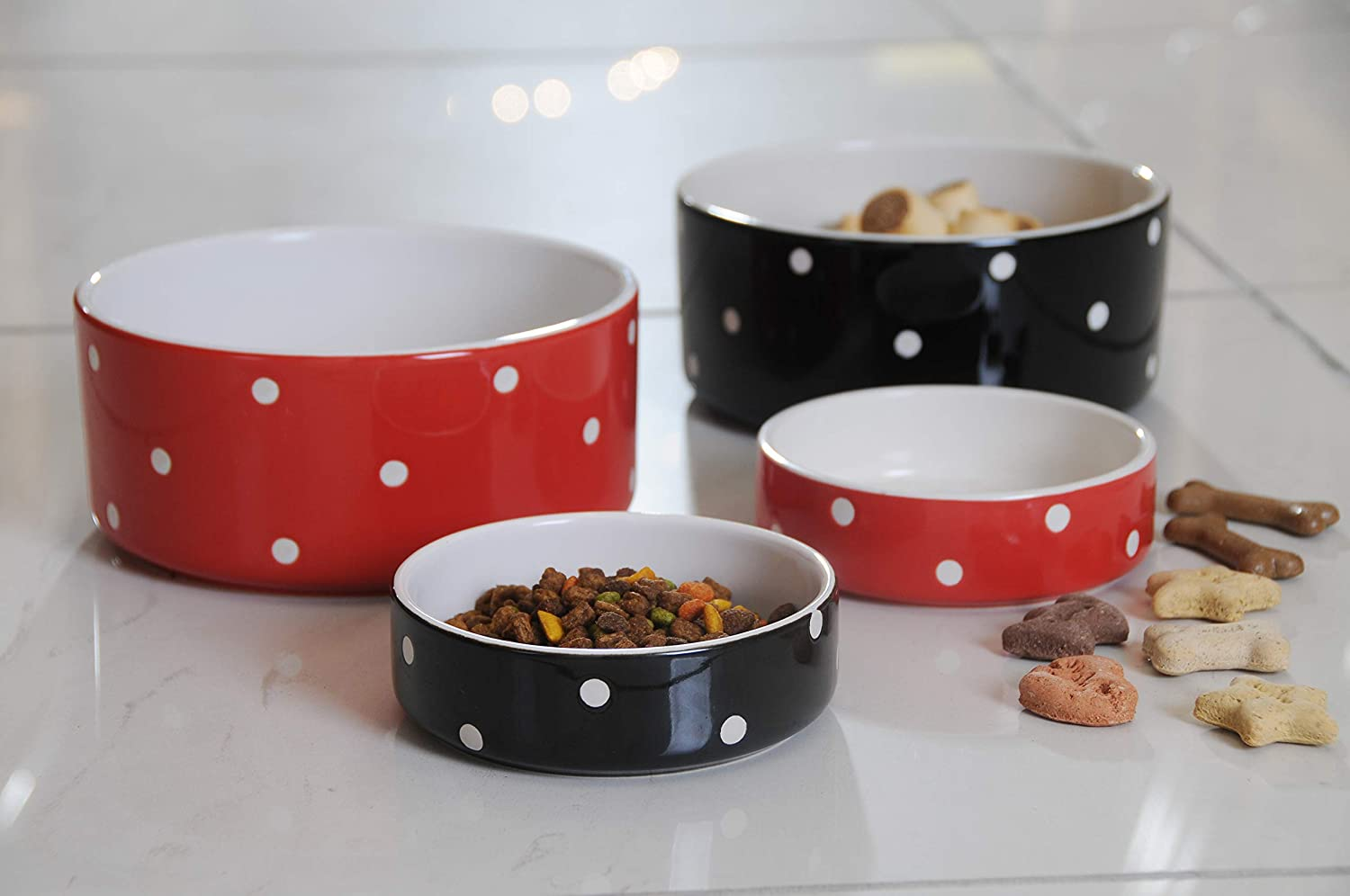 Inventive Mason Cash Polka Dot Red Bowl Making Things Convenient For The People Dishes, Feeders & Fountains Pet Supplies