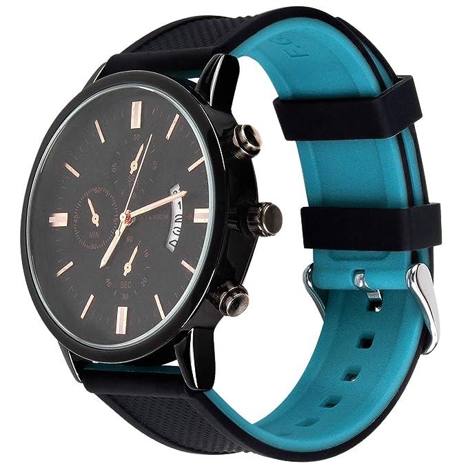 Fullmosa Correa Compatible de Silicona para Huawei Watch ASUS Watch, Rainbow Correa de Reloj de Repuesto con Hebilla de Acero Inoxidable 18mm 20mm ...