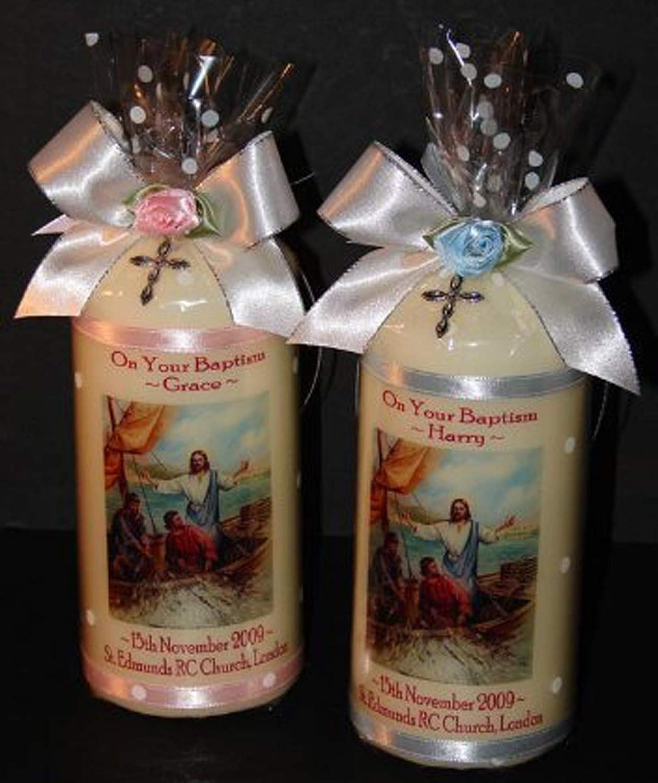Christening  Baptism  Communion  Confirmation Celebration personalised candle