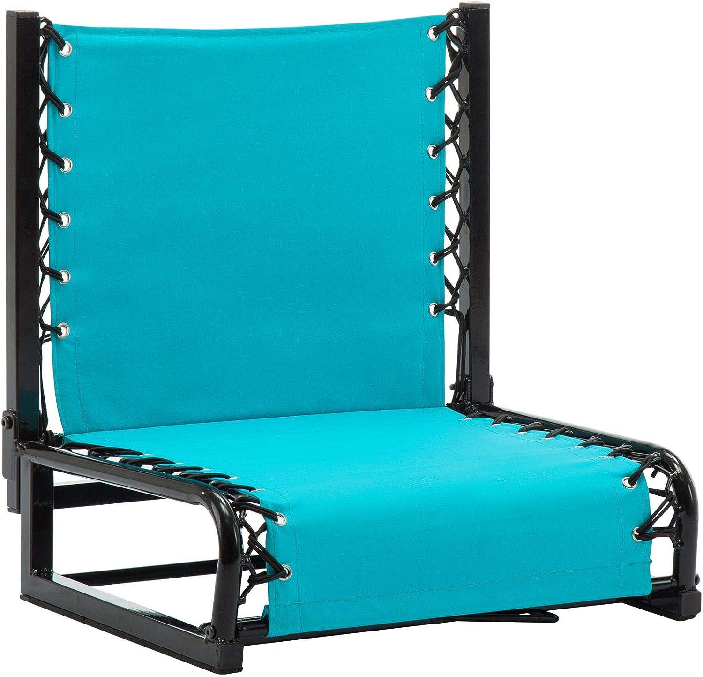 Naomi Home Zero Gravity Bench Riders Portable Stadium Seat Back Support Light Blue/Standard