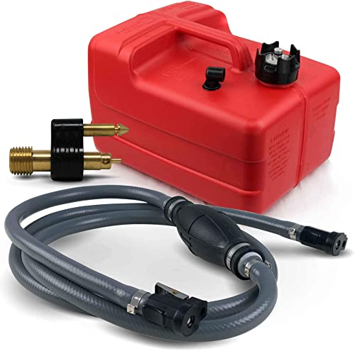 3 Gallon Portable Fuel Tank Kit for All Yamaha/Mercury Engines [Five Oceans] Picture