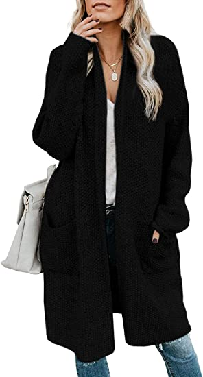 Women's Open Front Long Cardigan Sweater Oversized Cable