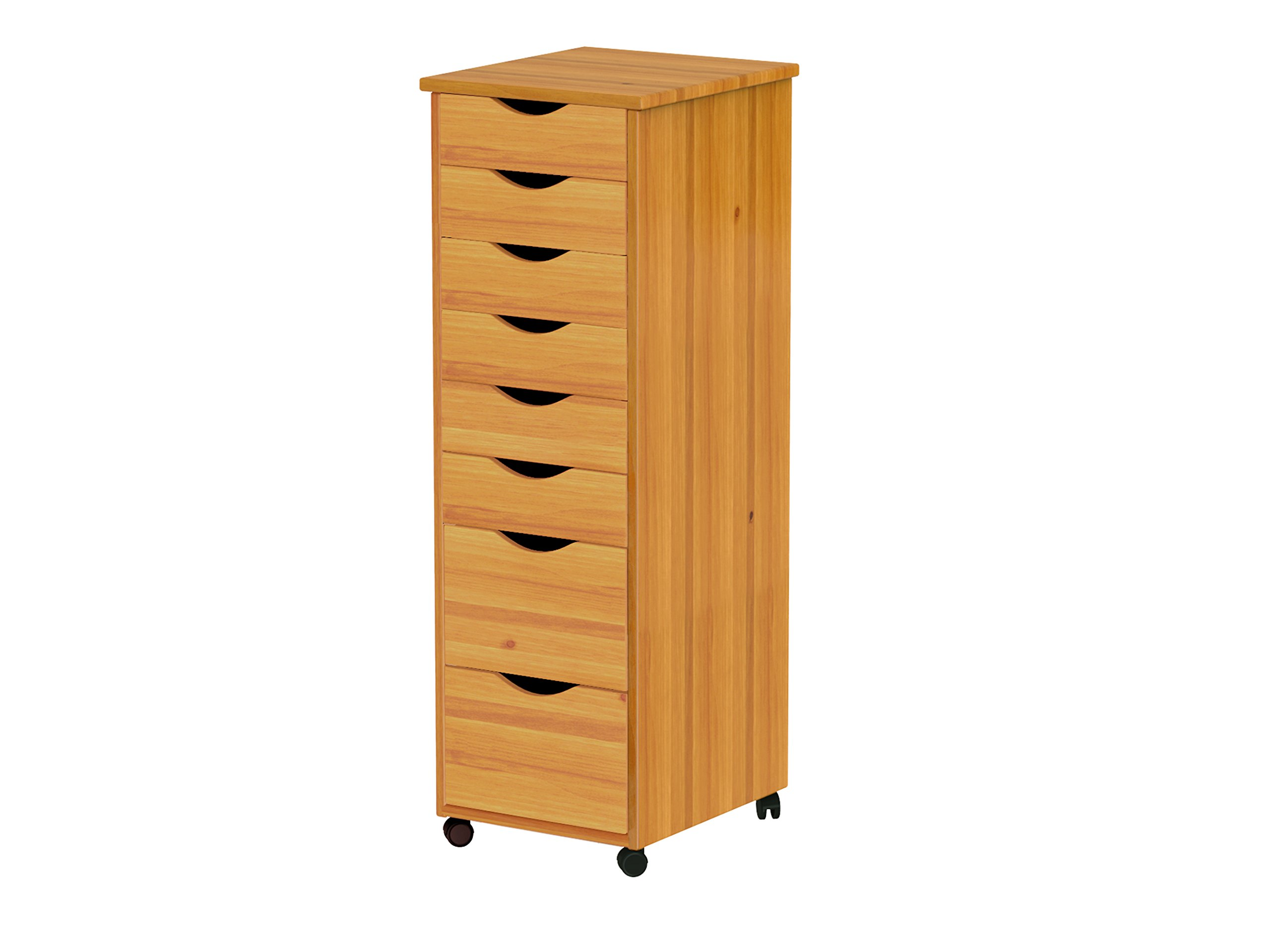 ADEPTUS 76156 8 Drawer Roll Cart, Medium Pine