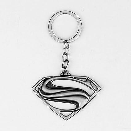 Superman S Logo Metal Llavero Coche Colgante (Negro, Amarillo ...