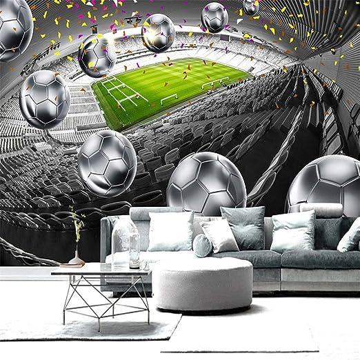 YBHNB 3D Arte Abstracto Mural, hogar Mejora Campo de fútbol 3D ...