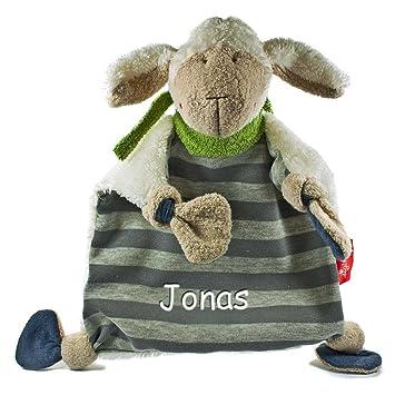 45efe371e4 Sigikid Schmusetuch SchafSchön mit Namen bestickt Baby Geschenk zur Geburt  Schnuffeltuch