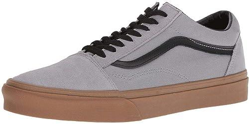 a1c85bd7480 Vans Old Skool Gris Gum Hombres Gamuza Skate Trainers  Amazon.es  Zapatos y  complementos
