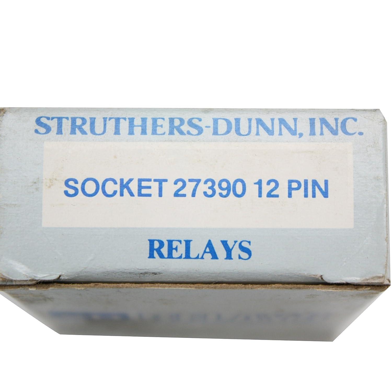 Struthers-Dunn Socket 27390 12 Pin Electrical Terminal Block Strip