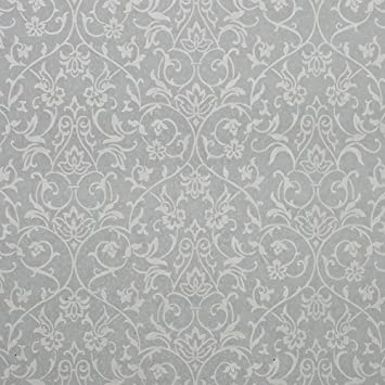 Nice Houzz Elegant Vintage Victorian Style Wallpaper Light Grey Green And White Color Rococo Damask