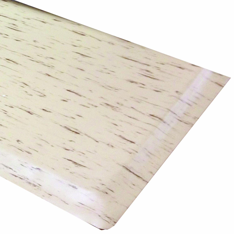 Rhino Mats TT-420T Marbleized Tile Top Anti-Fatigue Mat, 4' Width x 20' Length x 1/2'' Thickness, Tan