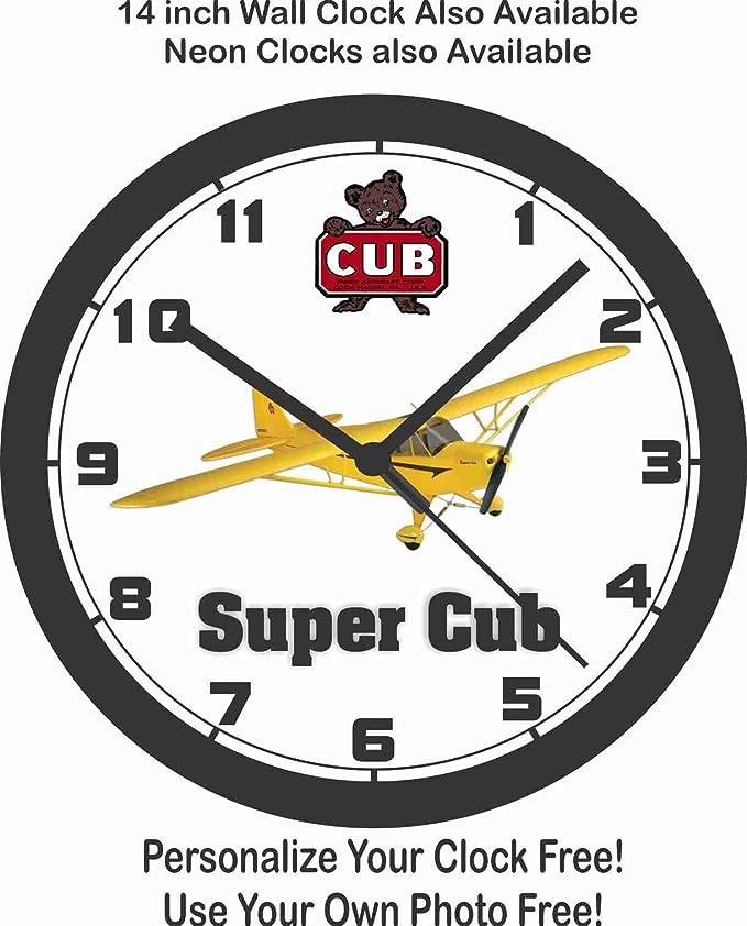 Amazon Piper Super Cub Airplane Wall Clock Free Usa Ship Home