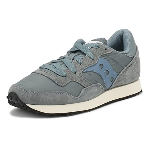 Saucony Womens Aqua Grey DXN Vintage Sneakers-UK 3