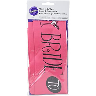 "Wilton ""Bride to Be"" Bachelorette Party Sash, 38"" L x 4"" W: Home & Kitchen"