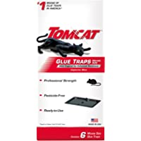 Tomcat Glue Traps Mouse Size with Eugenol for Enhanced Stickiness, Contains 6 Mouse Size Glue Traps - Captures Mice and…