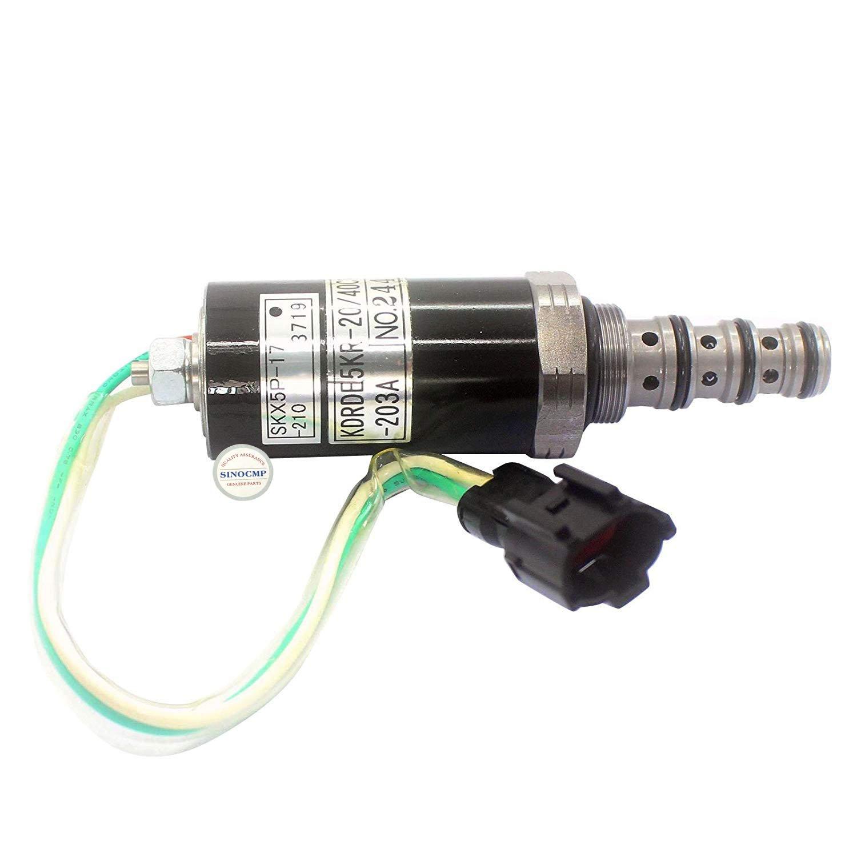 2//Électrovanne 203/A Skx5p-17 210/Pour Sumitomo Sh200 3/mois de garantie Sinocmp Pompe hydraulique /Électrovanne Kdrde5kr-20//40/C13