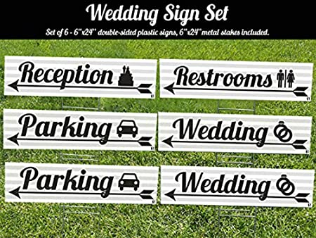 Amazon.com: Visibilidad expertos en señalización de boda 6 ...