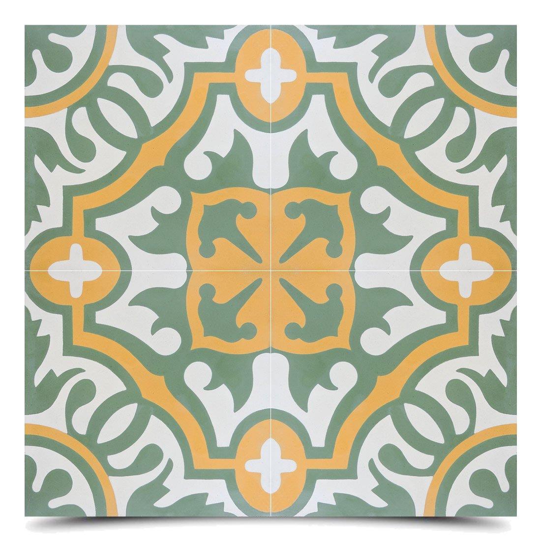 Moroccan Mosaic & Tile House CTP05-07 Baha Handmade Cement Tile