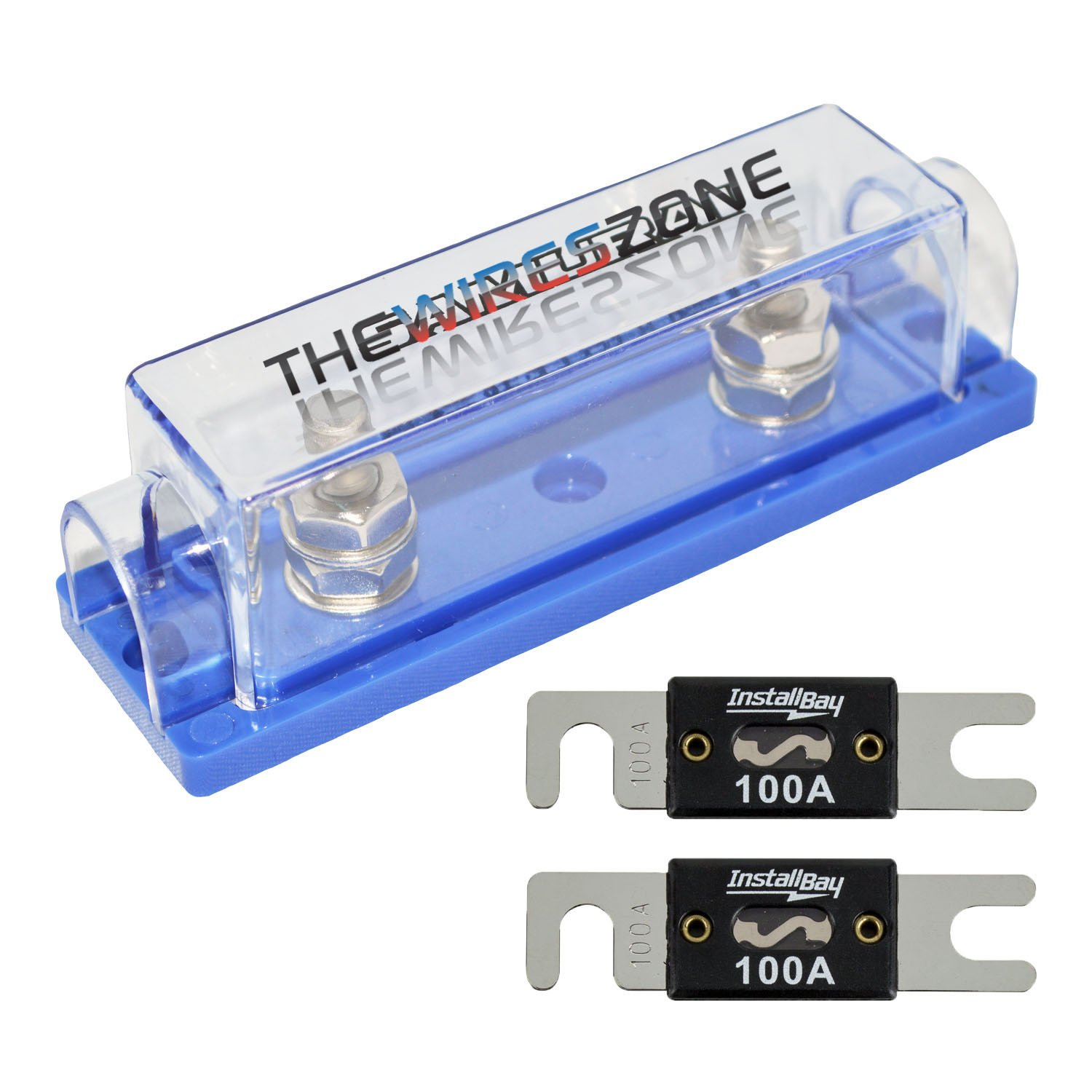 0//2 200A Inline ANL Fuse Holder 2 Pack 4 Gauge AWG ANL Fuse Block Holder with 200 Amp ANL Fuses for Car Audio Amplifier