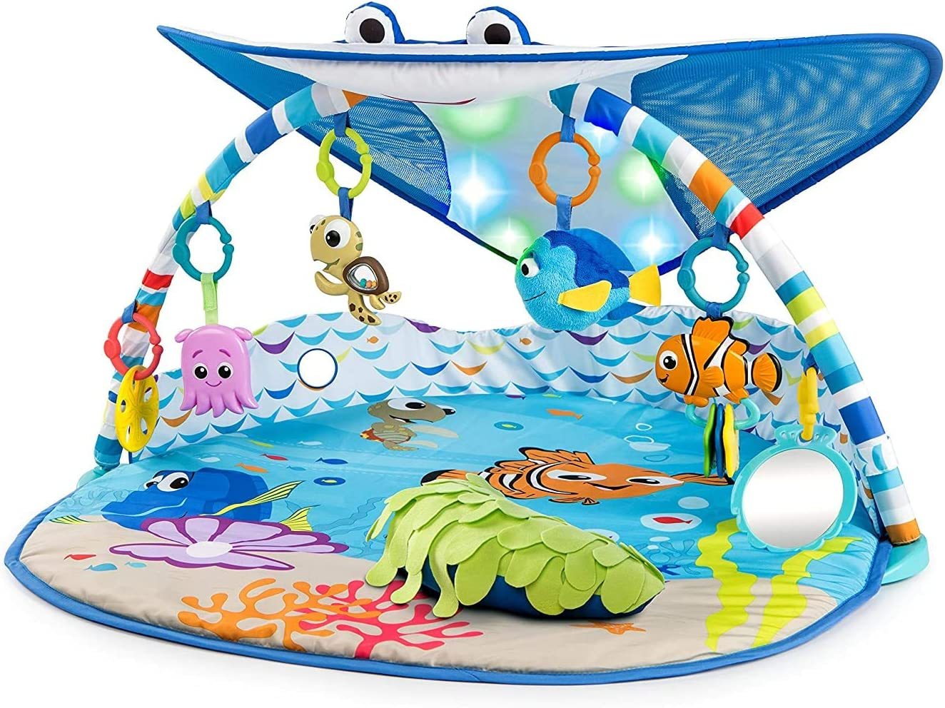 Xiangtat Baby Finding Nemo Ray Ocean Lights & Music Gym, Baby Kick 'n Play Gym Toys Colourful Musical Play Gym Playgym Play Mats Playmat Animal