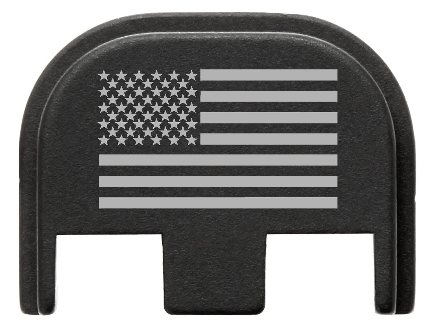 Fixxxer Gen 5 Rear Cover Plate Glock (American Flag design) Fits Most Models (Not G42, G43) Fits Gen 5 Only