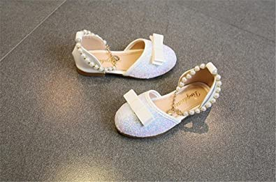 eleganceoo Girls Kids Ballet Flats Jane Mary Wedding for Party Princess