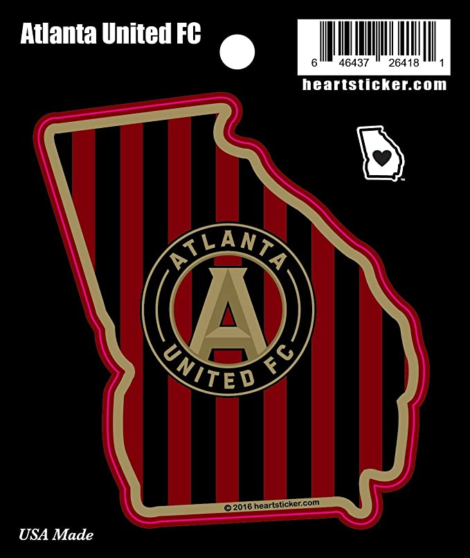 Amazon com mls atlanta united fc sticker in georgia all weather vinyl sticker use on all flat hard smooth clean surfaces for outdoor indoor use