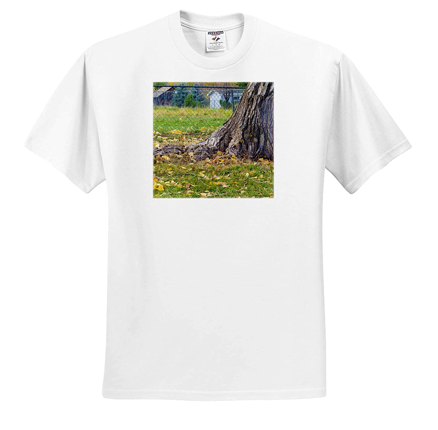 Autumn Leaves on The Ground Fall Leaves on he Ground at The Base of a Tree 3dRose Jos Fauxtographee T-Shirts