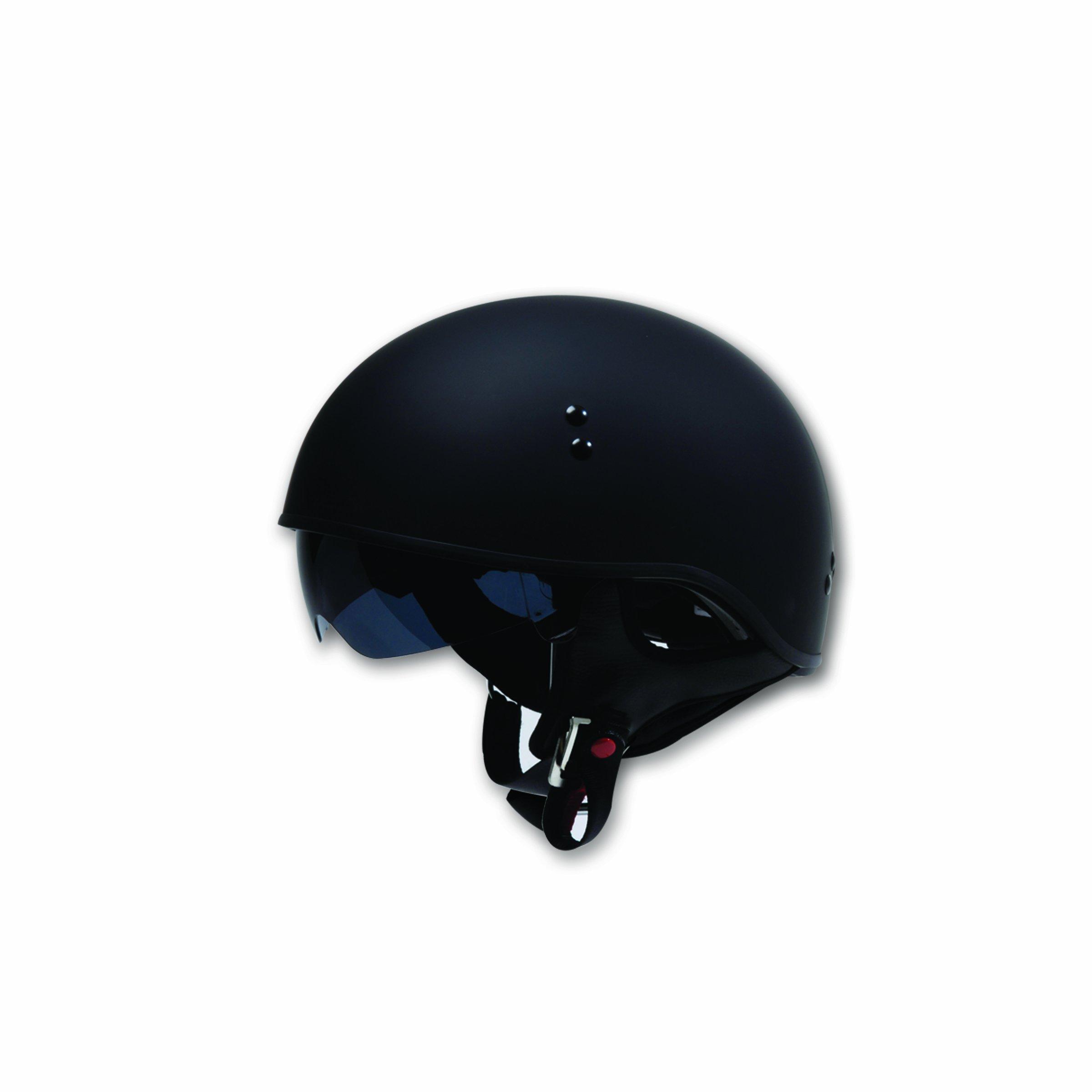 TORC T55 Spec-Op Half Helmet (Flat Black, Large) by TORC