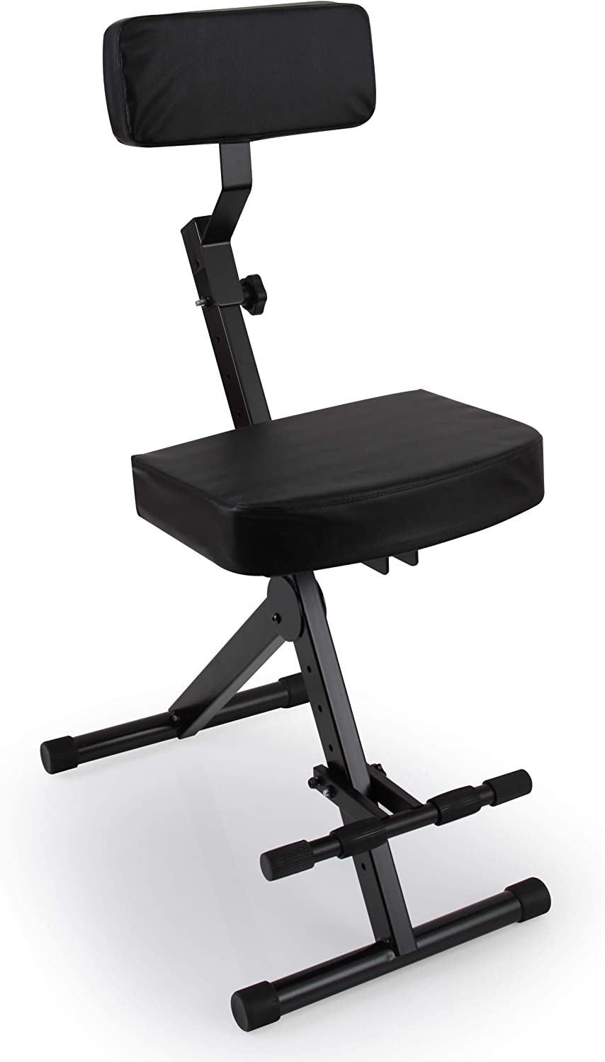 Pyle Portable Adjustable Musician Performer Stool
