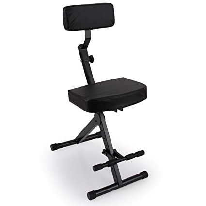 Admirable Portable Adjustable Musician Performer Stool Folding Musicians Performance Chair Drum Guitarist Keyboard Throne W Adjustable Padded Cushion Seat Inzonedesignstudio Interior Chair Design Inzonedesignstudiocom