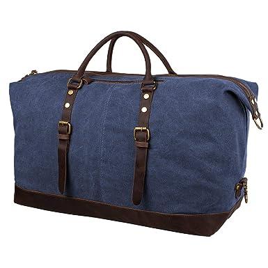 Amazon.com: S-ZONE Bolso de viaje de lona de gran tamaño con ...