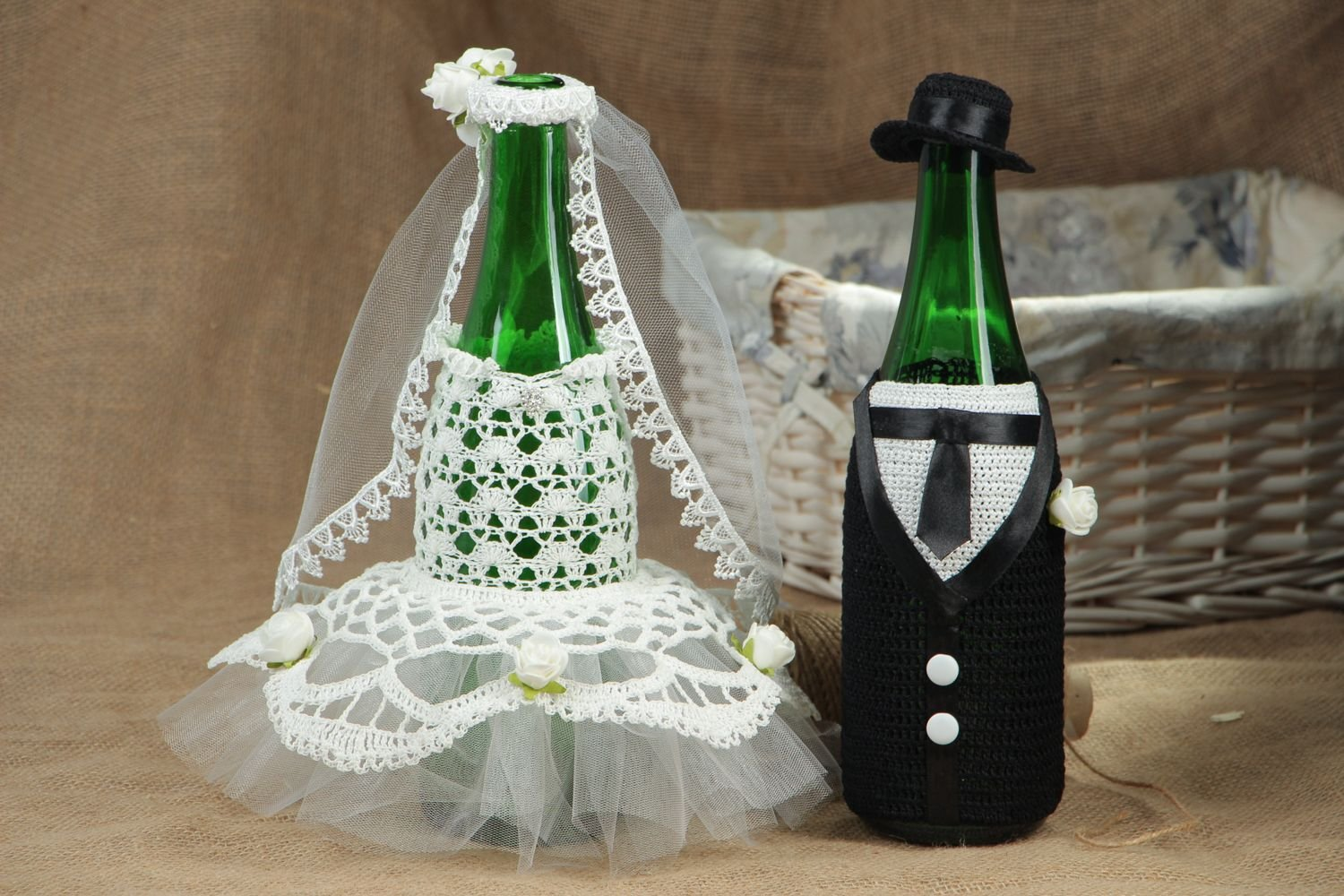 Decoracion para botellas de boda hecha a mano: Amazon.es: Hogar