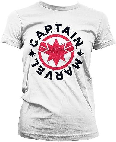 Captain Marvel Officiellement sous Licence Round Shield T