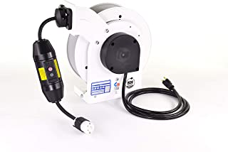 product image for RTA Reel w/ 25 Feet of 12/3 Black SJOW Cable, GFCI & 20A C520 Connector