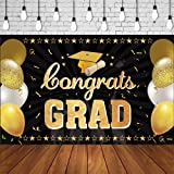 2021 Graduation Background Banner - Extra Large Graduation Party Banner Congrats Grad Photo Backdrop for Indoor Outdoor Photo