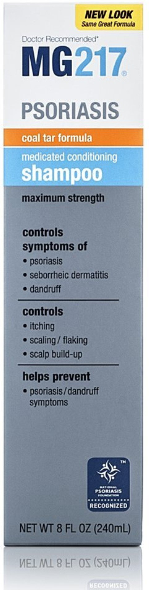 MG217 Medicated Conditioning Coal Tar Formula Shampoo 8 oz (Pack of 6) by MG
