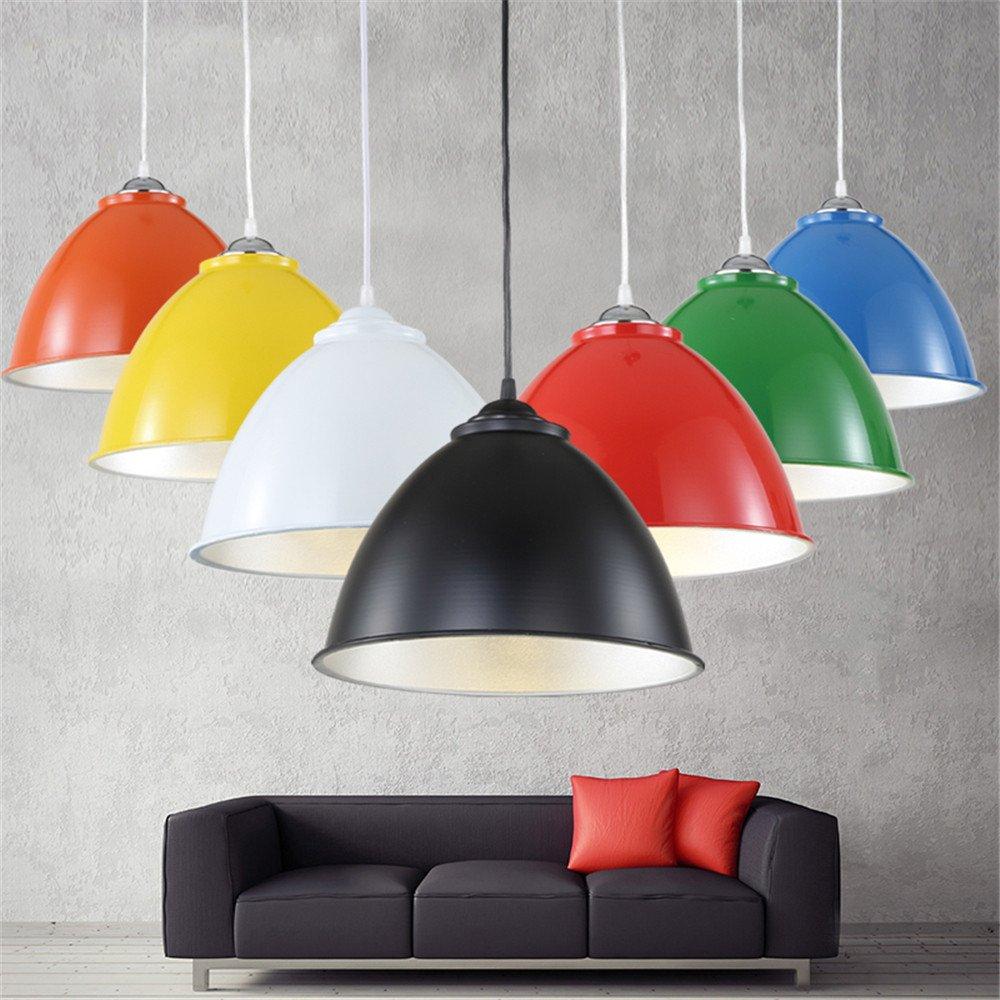 Moderne und Minimalistische kreative Persönlichkeit Single Head Hängeleuchter Lampengehäuse Einzelbüros Restaurant Bar Industrial Wind, Orange, 40 X 22 cm Kronleuchter