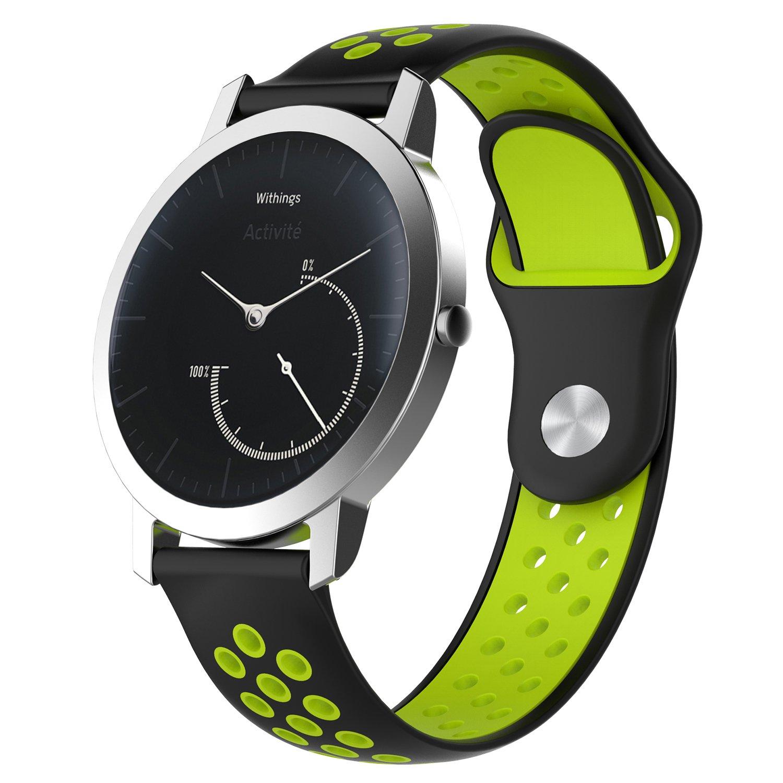Bemodst - Correa para Reloj de Pulsera para Nokia (sin Acero, Silicona, Repuesto poroso, Doble Colores, para Nokia Steel/Nokia Steel HR/Nokia SIN Steel HR, ...