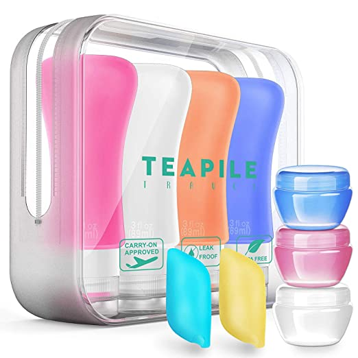 9 Pack Travel Bottles TSA Approved Containers, 3oz Leak Proof Travel Accessories Toiletries,Travel Shampoo And Conditioner Bottles,Perfect for Business or Personal Travel, Fun Outdoors best women's travel accessories